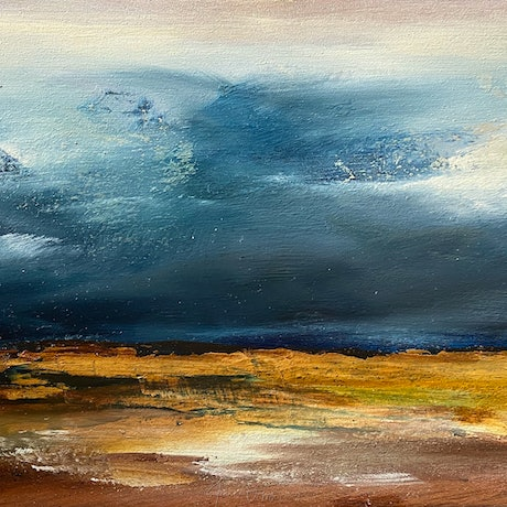 (CreativeWork) Harvest Storm by Joanne Duffy. Oil Paint. Shop online at Bluethumb.