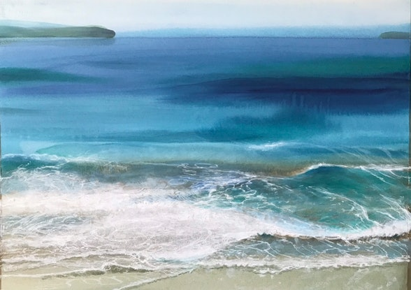 (CreativeWork) NORTH COAST 2 by Helen Halliday. Acrylic Paint. Shop online at Bluethumb.