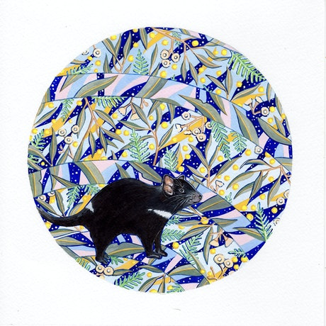 (CreativeWork) Tasmanian Devil by Ingrid Bartkowiak. Watercolour Paint. Shop online at Bluethumb.
