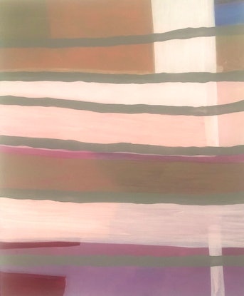 gentle coloured hues of beige and pink in layered veils of paint