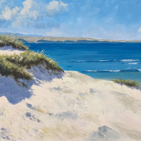 (CreativeWork) East coast beach by Steven Heyen. Oil Paint. Shop online at Bluethumb.