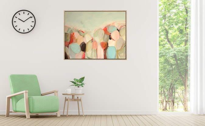 (CreativeWork) The Low Sun Warms by Brenda Meynell. Acrylic Paint. Shop online at Bluethumb.
