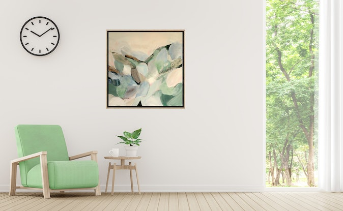 (CreativeWork) The Quiet Landscape by Brenda Meynell. Acrylic Paint. Shop online at Bluethumb.