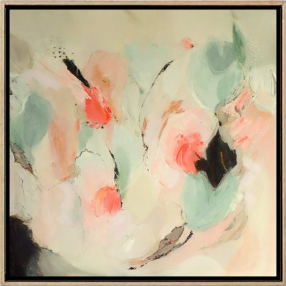 (CreativeWork) Gentle Blossoms by Brenda Meynell. Acrylic Paint. Shop online at Bluethumb.