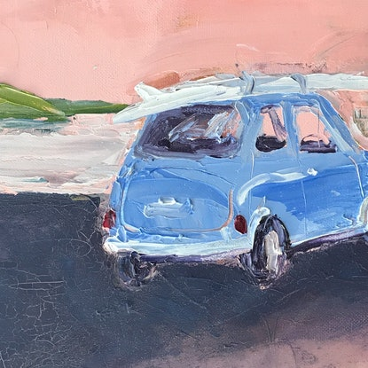 (CreativeWork) Surf Bound  by Marnie McKnight. Oil Paint. Shop online at Bluethumb.