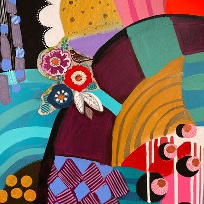 (CreativeWork) Pattern Clash by Sandra Oost. Mixed Media. Shop online at Bluethumb.
