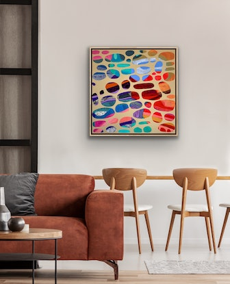 (CreativeWork) Two, three or more by Laura Oczos. Acrylic Paint. Shop online at Bluethumb.