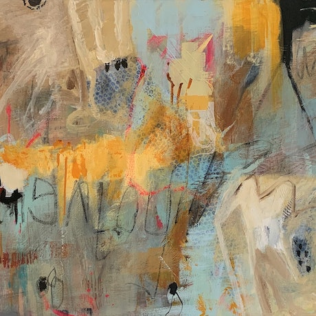 (CreativeWork) Graffiti One by Kate Toohey. Mixed Media. Shop online at Bluethumb.