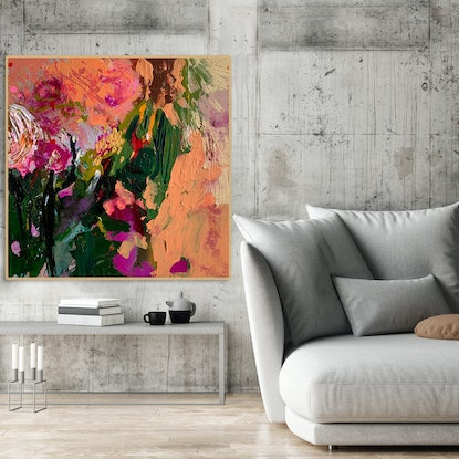 (CreativeWork) Strawberry Fields by BAKER COLLECTION. Acrylic Paint. Shop online at Bluethumb.