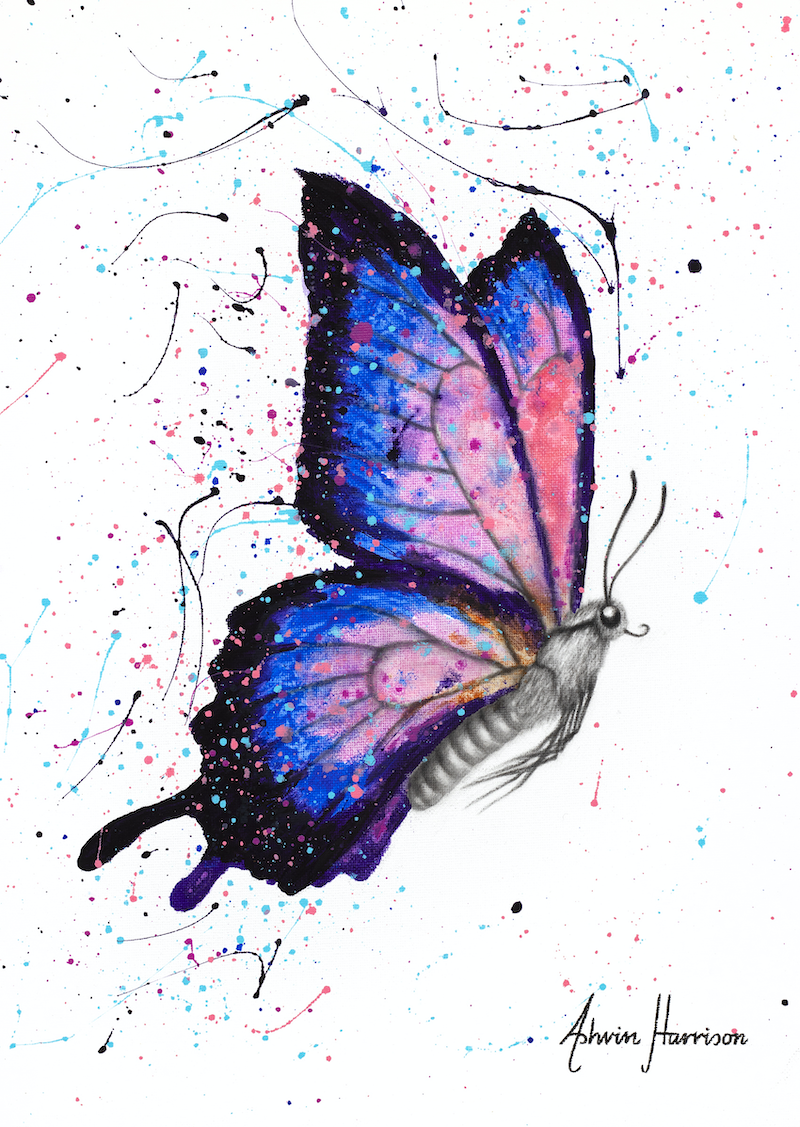 (CreativeWork) Seductive Star Butterfly  by Ashvin Harrison. Acrylic Paint. Shop online at Bluethumb.