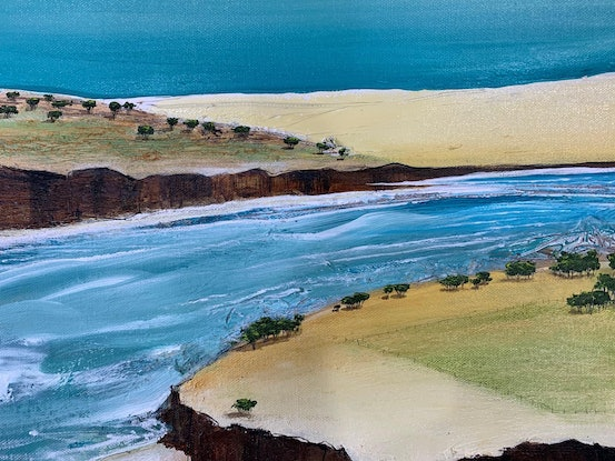 (CreativeWork) Out Along The Bay by Tania Chanter. Acrylic Paint. Shop online at Bluethumb.