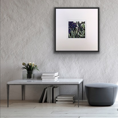(CreativeWork) Purple Spiked Flower 3 by Tania Daymond. Drawings. Shop online at Bluethumb.