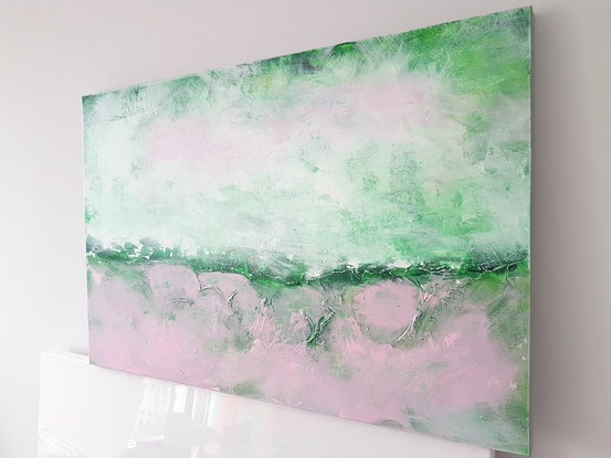 (CreativeWork) ETHEREAL MELODY by Basia Kilian. Acrylic Paint. Shop online at Bluethumb.