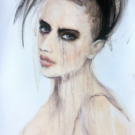 (CreativeWork) Isobella by Fiona Maclean. Oil Paint. Shop online at Bluethumb.