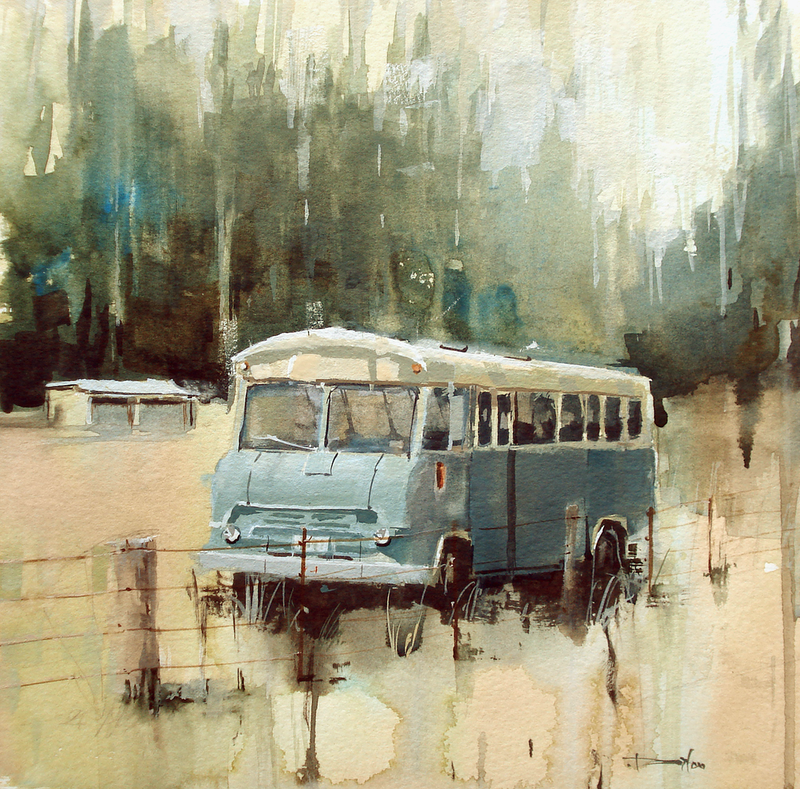 (CreativeWork) Retired by Dylan Shearsby. Watercolour Paint. Shop online at Bluethumb.
