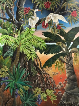 (CreativeWork) Mangrove Country by Johanna Hildebrandt. Acrylic Paint. Shop online at Bluethumb.