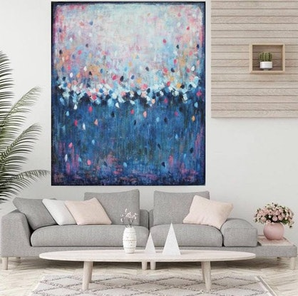 (CreativeWork) Summer Storm Dreaming by Belinda Nadwie. Oil Paint. Shop online at Bluethumb.