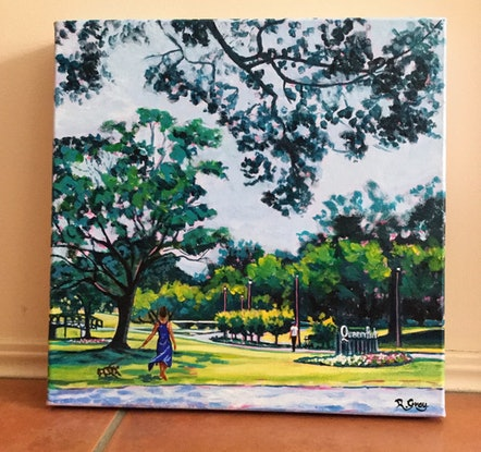 (CreativeWork) Queens Park Corner by Robyn Gray. Acrylic Paint. Shop online at Bluethumb.