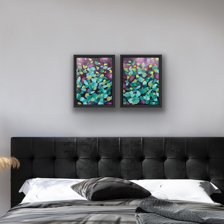 (CreativeWork) Twilight I & II by Eve Sellars. Oil Paint. Shop online at Bluethumb.
