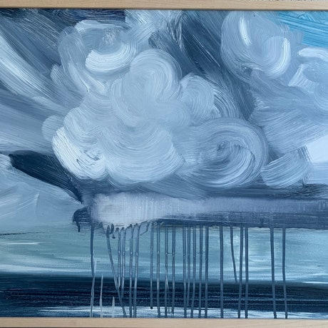(CreativeWork) Sky's Monologue  by Tym Yee. Oil Paint. Shop online at Bluethumb.
