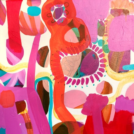 (CreativeWork) Another World II by Sarah Morrow. Acrylic Paint. Shop online at Bluethumb.