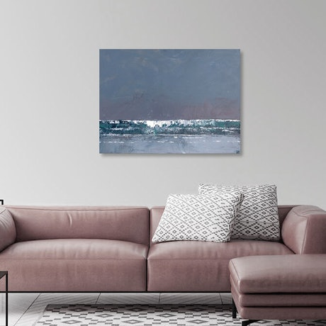 (CreativeWork) Surf's up - textured decor art by Mike Barr. Acrylic Paint. Shop online at Bluethumb.