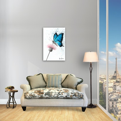 (CreativeWork) Sugar Butterfly by Ashvin Harrison. Acrylic Paint. Shop online at Bluethumb.