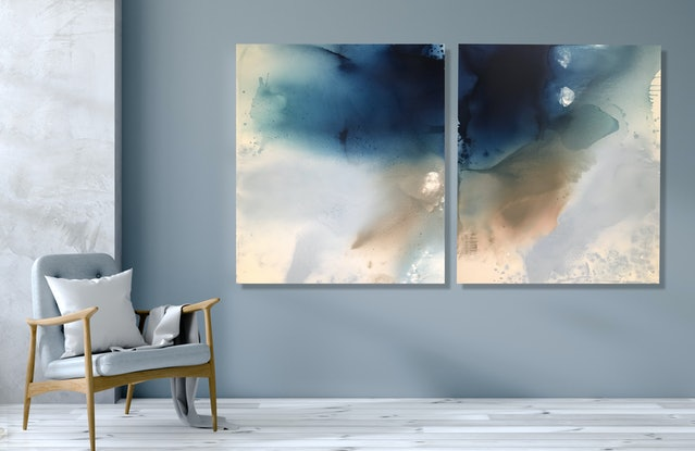 (CreativeWork) Night Dreaming No3 by Kathleen Rhee. Acrylic Paint. Shop online at Bluethumb.