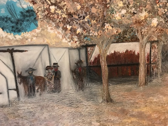 (CreativeWork) Tent City by Rachael Hains-Wesson. Acrylic Paint. Shop online at Bluethumb.