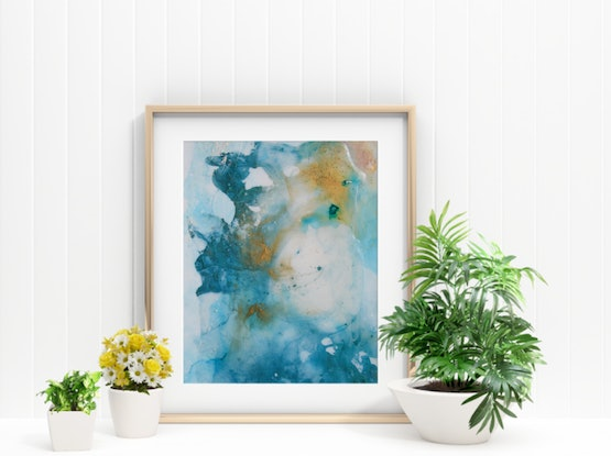 (CreativeWork) Clear Waters by Stephanie Lisa. Acrylic Paint. Shop online at Bluethumb.