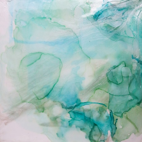 (CreativeWork) Blue Lagoon by Stephanie Lisa. Mixed Media. Shop online at Bluethumb.