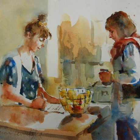 (CreativeWork) Lunch Order by Lorraine Lewitzka. Watercolour Paint. Shop online at Bluethumb.