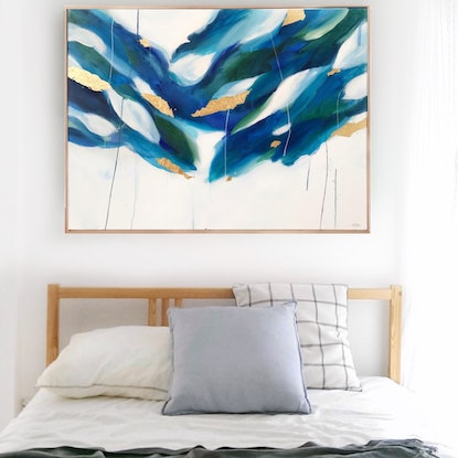 (CreativeWork) Ocean Colour Scene by Marnie McKnight. Mixed Media. Shop online at Bluethumb.