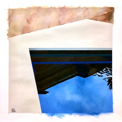 (CreativeWork) Cool pool by Geoff Coleman. Acrylic. Shop online at Bluethumb.