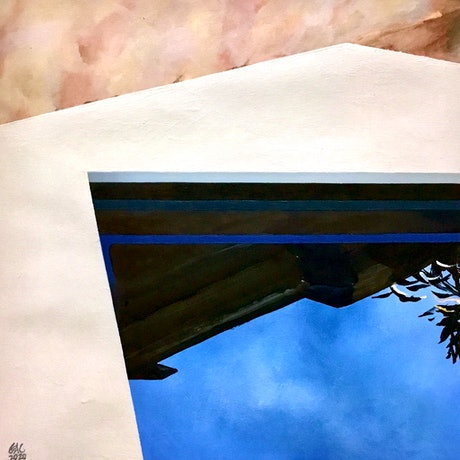 (CreativeWork) Cool pool by Geoff Coleman. Acrylic Paint. Shop online at Bluethumb.