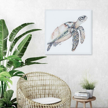 (CreativeWork) Lady the Turtle by Stephanie Elizabeth. Watercolour Paint. Shop online at Bluethumb.