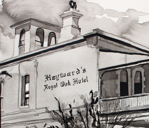 (CreativeWork) Heyward's Royal Oak Hotel by Tim O'Shea. Other Media. Shop online at Bluethumb.