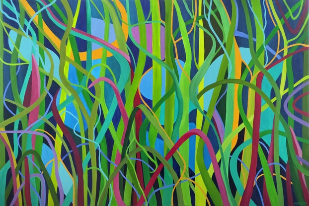 (CreativeWork) It's a Jungle Out There by Marlene Holdsworth. Acrylic Paint. Shop online at Bluethumb.