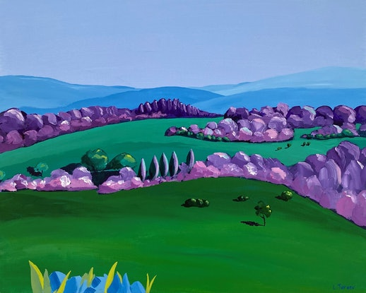 (CreativeWork) Somewhere Out There Original Painting by Lisa Turner. Acrylic Paint. Shop online at Bluethumb.