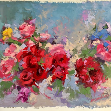 (CreativeWork) The Promise of Colour by Mirjana Psakis. Oil Paint. Shop online at Bluethumb.