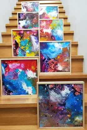 (CreativeWork) Connectedness Series No 3 by Kelly Hinds. Mixed Media. Shop online at Bluethumb.
