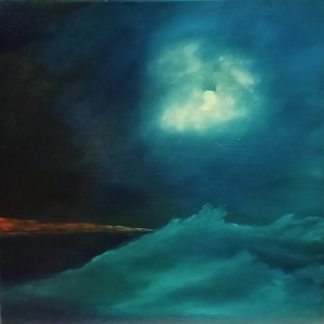 (CreativeWork) MOONLIGHT SEA'S by Tracy Hocking. Oil Paint. Shop online at Bluethumb.