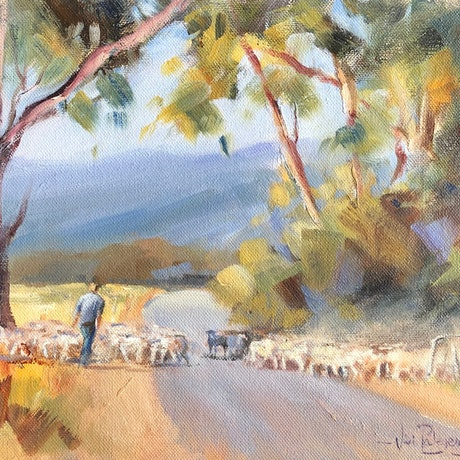 (CreativeWork) Herding time. by Vivi Palegeorge. Oil Paint. Shop online at Bluethumb.