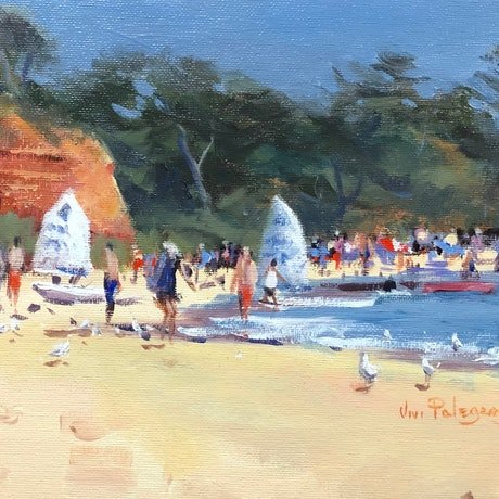 (CreativeWork) Summers day Mornington. by Vivi Palegeorge. Oil Paint. Shop online at Bluethumb.