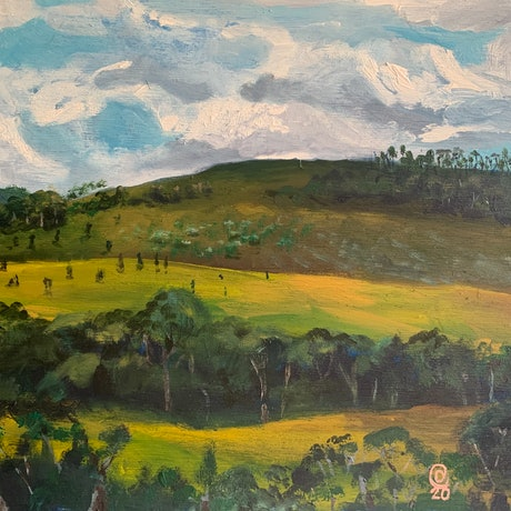 (CreativeWork) Urbenville by Dylan Cooper. Acrylic Paint. Shop online at Bluethumb.