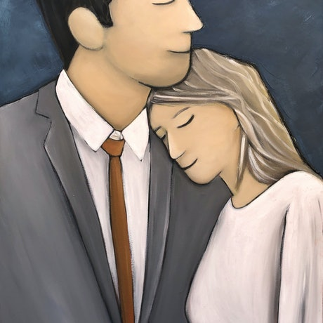 (CreativeWork) Love Series #9 Revisited by Julie Robertson. Acrylic Paint. Shop online at Bluethumb.