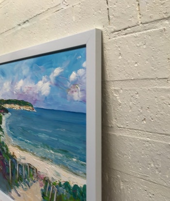 (CreativeWork) Mornington beach by Ron Brown. Acrylic Paint. Shop online at Bluethumb.