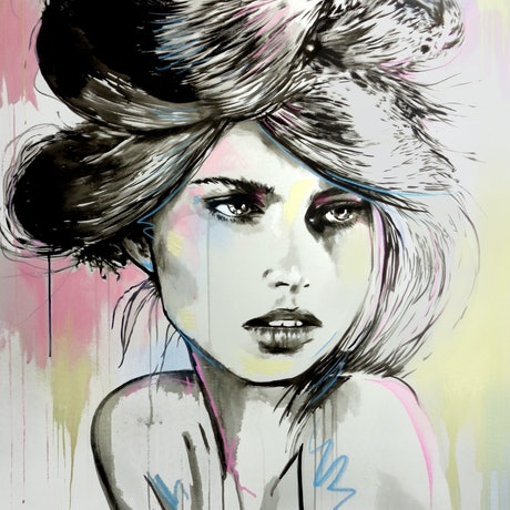 (CreativeWork) SAINT MORITZ by loui jover. Acrylic Paint. Shop online at Bluethumb.