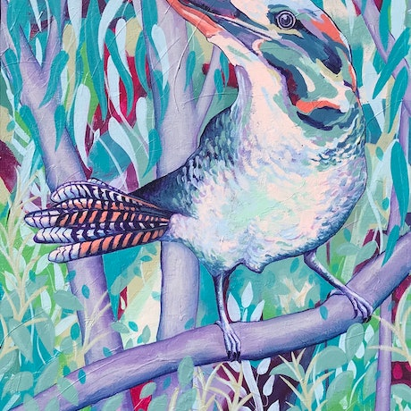 (CreativeWork) Morning Chorus by Kylee Rees. Acrylic Paint. Shop online at Bluethumb.