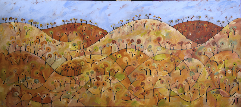 (CreativeWork) Fogartys Gap I by Michael Wolfe. Acrylic Paint. Shop online at Bluethumb.
